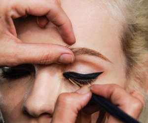 eyeliner, make up, and model image