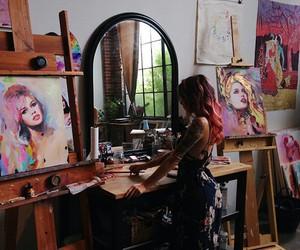 love, art, and girl image