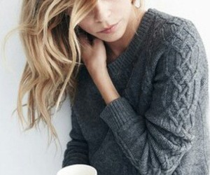 hair, sweater, and blonde image