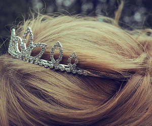 blonde, hair, and tiara image