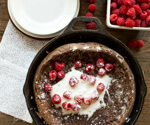 cheese, raspberries, and chocolate image