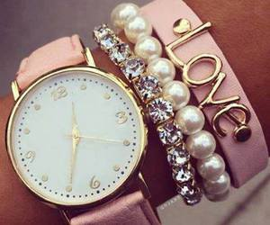 pink, love, and watch image