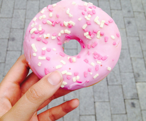 donut, food, and homer image
