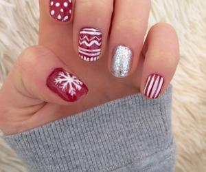 christmas, nail polish, and nails image