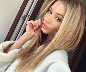 ariana grande, blonde, and hair image