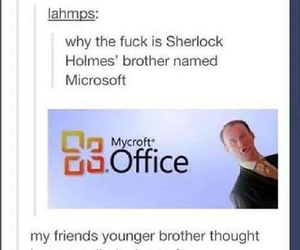 funny, holmes, and sherlock image