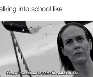 funny, school, and ahs image