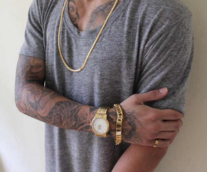tattoo, gold, and boy image