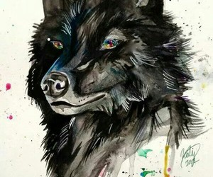 wolf and art image