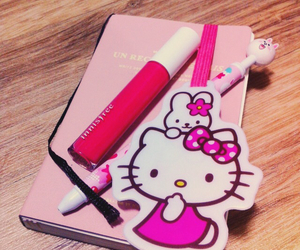 diary, kitty, and pink image