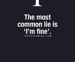 lie, psychology, and quotes image