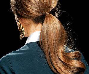 hair, fashion, and ponytail image