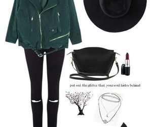 green, hat, and style image