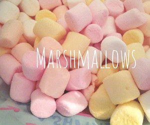 marshmallows, pink, and cute image