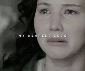 katniss and love image