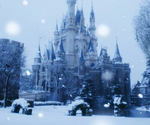 snow, castle, and winter image
