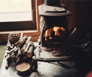 fire, winter, and autumn image