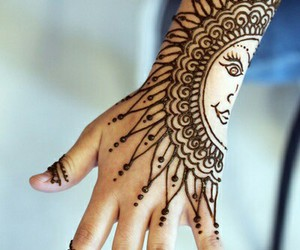 awesome, henna, and moon image