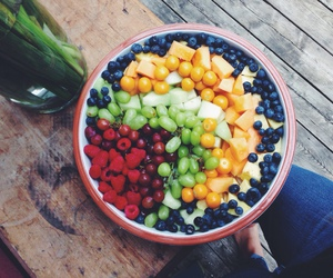 blueberry, fruit, and grapes image