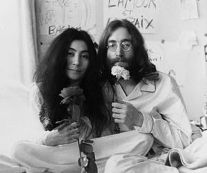john lennon, Yoko Ono, and peace image