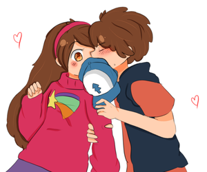 cute couple, kissing, and otp image