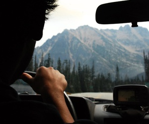 mountains, boy, and car image