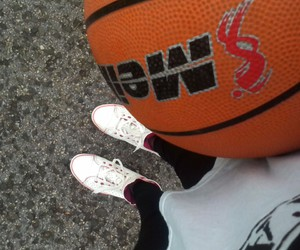 ball, Basketball, and girl image