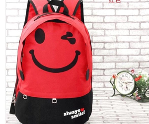 backpack, bag, and smile image