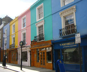 colors, london, and Notting Hill image