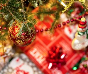 gift, christmas, and red image