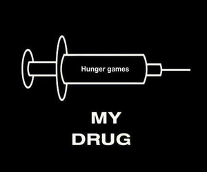 hunger games, drug, and catching fire image
