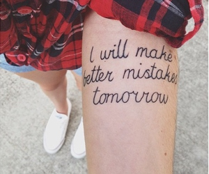 tattoo, mistakes, and quotes image