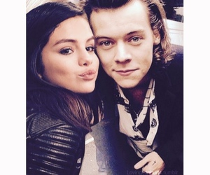 selena gomez, 1d, and Harry Styles image