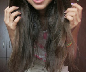 braces, brunette, and nails image