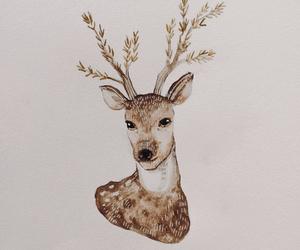 art, beauty, and deer image