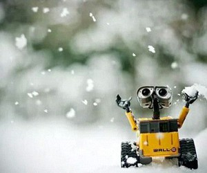 snow, wall-e, and cute image