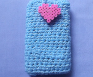 pink heart, iphone case, and blue case image