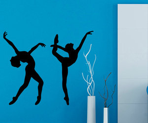 girl room decor, ballerina decal, and dance decals image