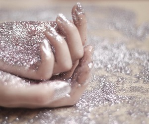 glitter, hands, and pink image