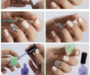 nails, diy, and girls image