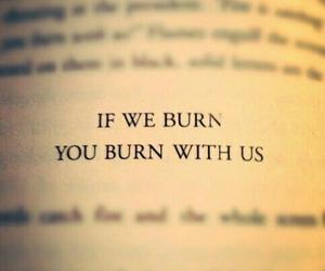 mockingjay, burn, and quotes image