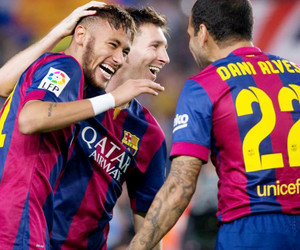 neymar, messi, and dani alves image