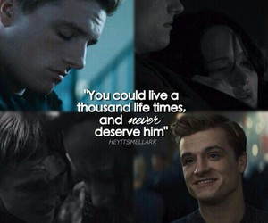 peeta, the hunger games, and peeta mellark image