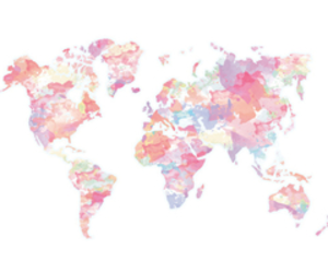 world, map, and pink image