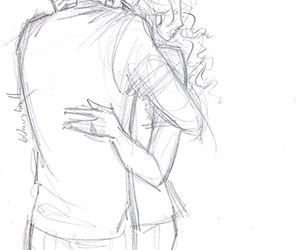 love, drawing, and percabeth image