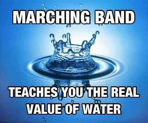 marching band and water image