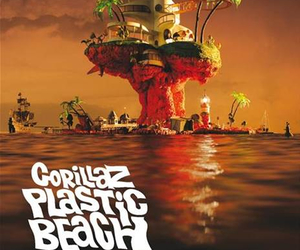 gorillaz, plastic beach, and album image