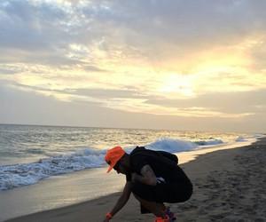 neymar, beach, and neymar jr image