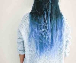 blue, blue hair, and clothes image
