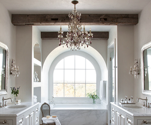 bathroom, white, and luxury image